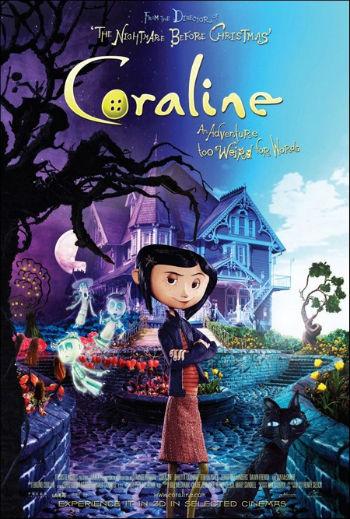 Affiche de cinéma du film de Henry Selick  : Coraline